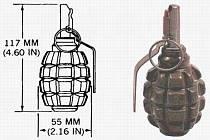 Modifikace ruského obranného granátu F1 se u nás vyráběly až do konce 20. století.
