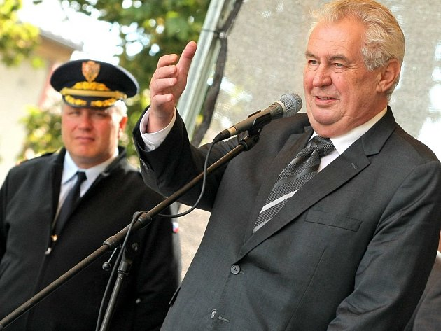 Prezident Miloš Zeman navštívil Nové Veselí.