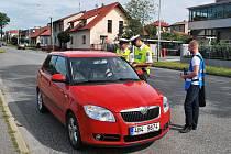 Řidiči, u nichž měla dechová zkouška negativní výsledek, dostali dárky.
