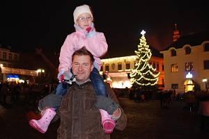 Vánoční strom ve Žďáře.