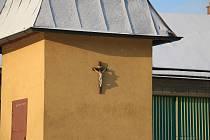 Zvonička v Sazomíně pochází z druhé poloviny 19. století.