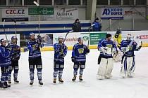 Budou takto hokejisté Velkého Meziříčí slavit v příští sezoně výhry ve druhé lize?