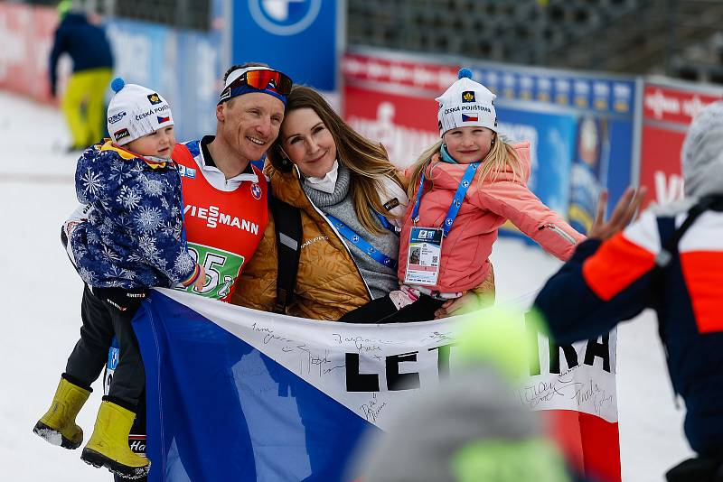 Loučení Ondřeje Moravce s profesionální kariérou biatlonisty.