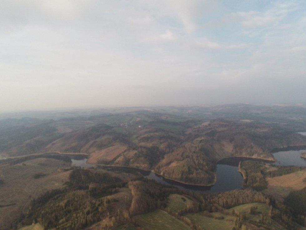 Pohled na Vítochov z dronu