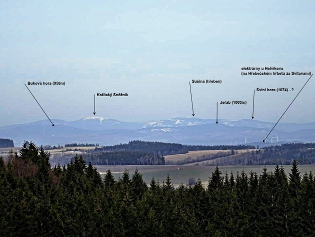 Luboš Korbář nafotil pohled zKočího kopce.
