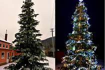 Vítězný vánoční strom v Dolním Čepí.