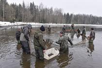 Ve městě Svratka na Žďársku kvůli jeho chystané opravě vylovili po takřka 23 letech rybník Svratka, kterým protéká stejnojmenná řeka.