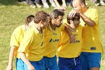NEJPRODUKTIVNĚJŠÍ. Fotbalisté Bystřice B se mohli celkem sedmasedmdesátkrát radovat ze vstřeleného gólu. Když se k tomu přidala i nejlepší defenziva, nebylo o mistrovi pochyb.