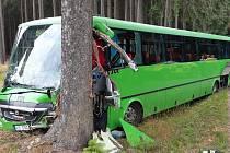 Na silnici mezi obcí Jámy a Žďárem nad Sázavou havaroval autobus.