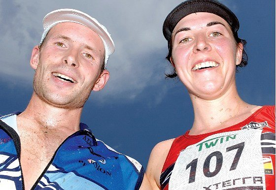 Karel Zadák a Eva Skalníková vybojovali na Hostivařské přehradě titul mistrů republiky v terénním triatlonu.
