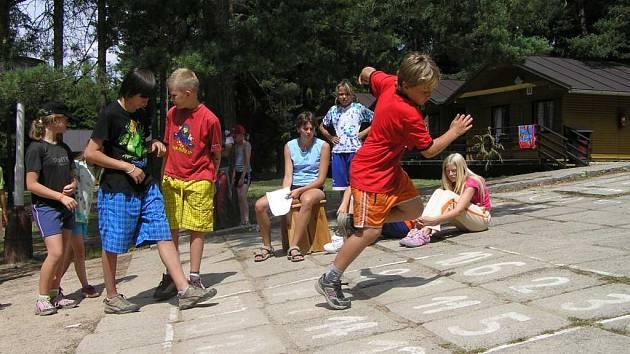 Včerejší táborová hra se skládala z deseti disciplín.