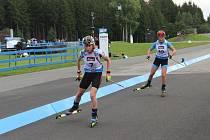 Biatlonová jednička české reprezentace Markéta Davidová na mistrovství světa na kolečkových lyžích v Novém Městě na Moravě.