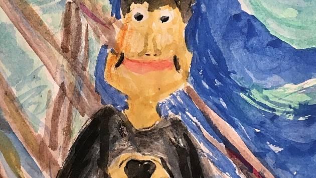 Obrázek deváťáka Antonína Homoly ze ZŠ Oslavická Velké Meziříčí.