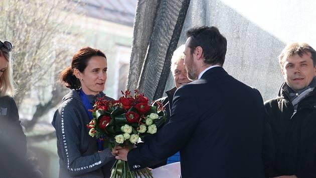 Martina Sáblíková přijela pozdravit své domovské město.
