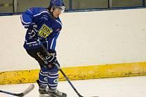 Hokejisté Velkého Meziříčí (na snímku) v sobotu zdolali Velkou Bíteš na jejím ledě 3:2.