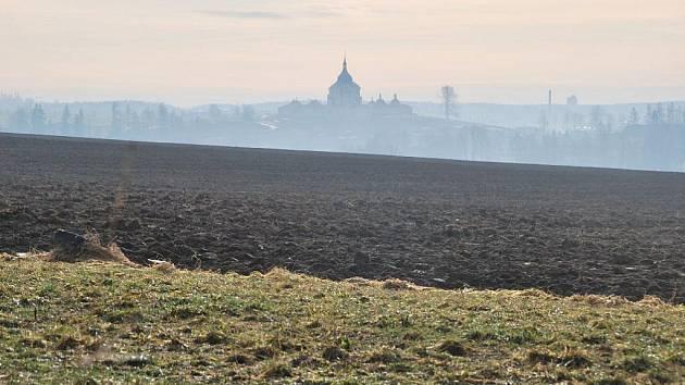 Pohled na Zelenou horu v neděli 16. ledna 2011.