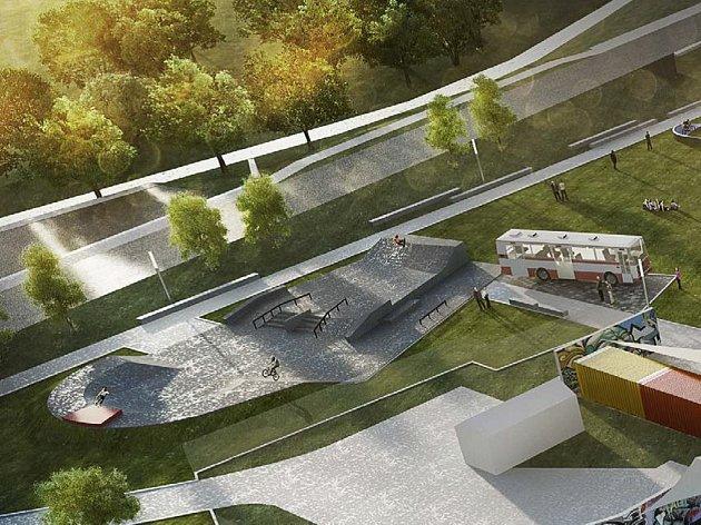 Skatepark v podobě monolitické betonové vany u silnice vedoucí na Klafar bude první etapou výstavby takzvaného streetparku.