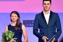 V přímém přenosu České televize převzala Alžběta Pečínková ocenění za trial společně s vítězem horských kol Jaroslavem Kulhavým. S olympijským vítězem se setkala i na společné fotografii všech oceněných.