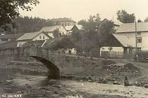 Dolní Hamry v první polovině dvacátého století.
