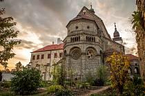 Bazilika v Třebíči.