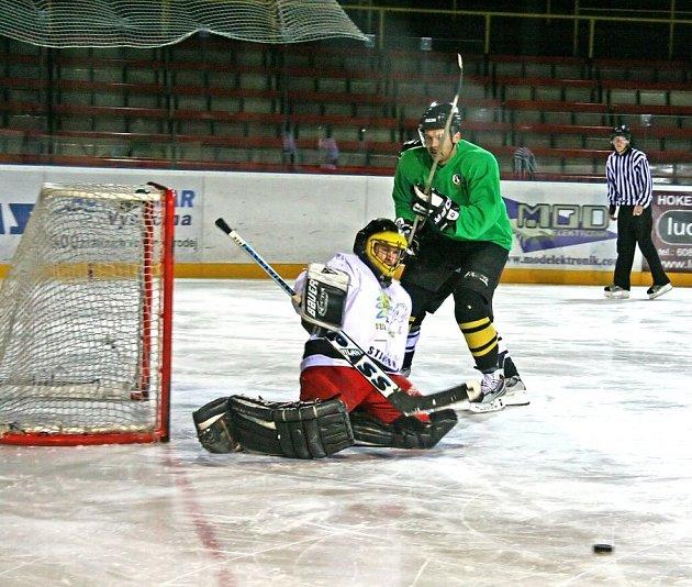 Hokejisté Velké Losenice konečně zabrali a porazili Vojnův Městec. Foto: Deník/Tomáš Marek