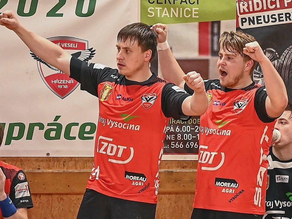 Nedělní duel na palubovce KP Brno se házenkářům Nového Veselí podařil na jedničku. O svém vítězství 27:25 rozhodli hlavně excelentní druhou půlí.