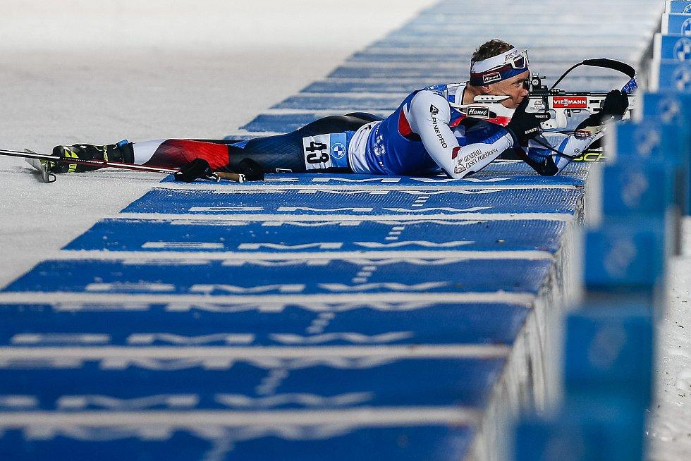 Ondřej Moravec závodu Světového poháru v biatlonu v závodu sprintu mužů na 10 km.
