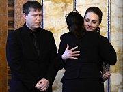 Rodina, kamarádi a spolužáci se ve Žďáru loučili se zavražděným Petrem.