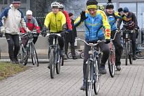 Novoroční jízda žďárských cyklistů se letos konala už po sedmačtyřicáté.