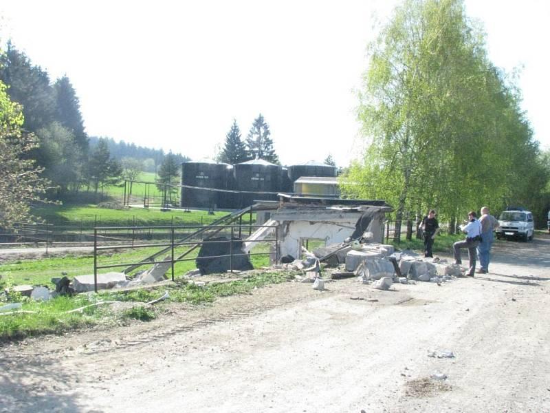 K výbuchu stanice došlo ve Veselíčku na Žďársku.