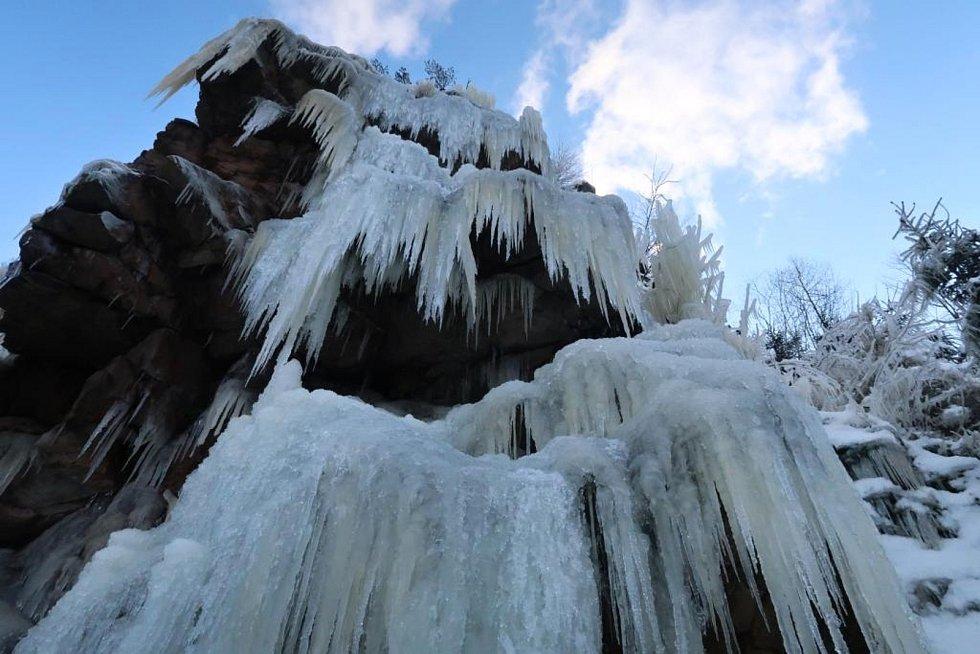 Ledová stěna ve Víru.