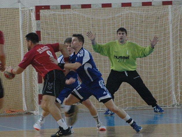 Házenkáři Nového Veselí porazili prvoligovou Litovel a postoupili do dalšího kola Českého poháru.