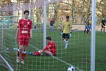 Vedoucí Třebíč dorazil v 90. minutě Petr Sodomka. Domácím už se zpátky do zápasu vůbec nechtělo.