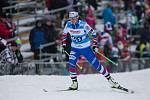 Anna Sixtová v závodu žen na 10 km volně v rámci Světového poháru v běhu na lyžích.