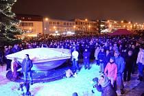 Novoroční setkání na žďárském náměstí Republiky.