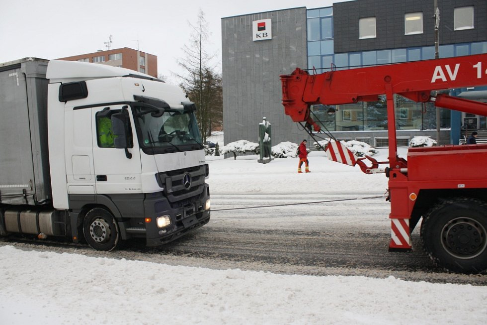 Žďársko zasypal 4. ledna 2017 sníh.