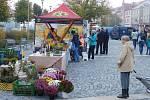 Farmářský trh na žďárském náměstí Republiky.