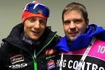 Dva Ondřejové vedle sebe, trojnásobný medailista z mistrovství světa ve finském Kontiolahti a člen antidopingové komise.