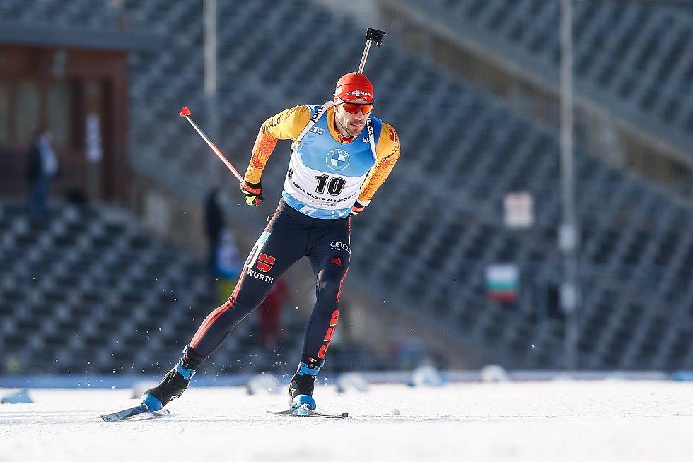 Arnd Peiffer v závodu Světového poháru v biatlonu v závodu sprintu mužů na 10 km.