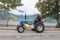 Martin Havelka vyjel na svém traktoru vysokohorskou silnici kolem Grossglockneru.