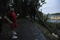 Následky prudké bouře večer 29. července byly znát po celé Vysočině. Snímek je z Třeště na Jihlavsku.
