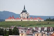 Výhled z věže svatého Prokopa ve Žďáře nad Sázavou