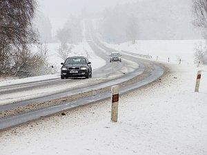První vydatné sněžení zimy