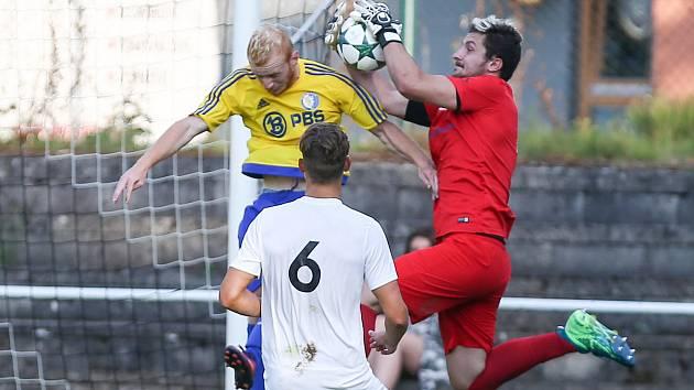 Utkání 1. kola Divize D mezi FC Žďas Žďár nad Sázavou a FC PBS Velká Bíteš.