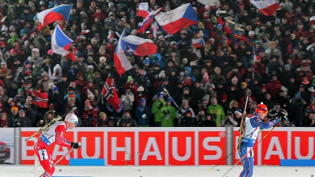 Atmosféra při biatlonu v Novém Městě na Moravě je jedinečná.