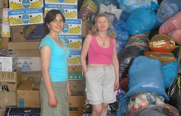 Sbírku oblečení pořádalo centrum Kambala.