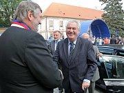 Prezident Zeman při navštěvě Vysočiny.