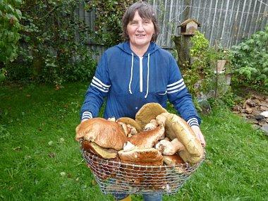 Houbařka z Kotlas na Žďársku si domů z lesa přinesla v koši také kilového hřiba - Noviny Žďárska