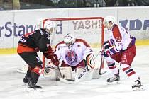 Dosavadním nejsvětlejším okamžikem této sezony byla pro hokejisty SKLH Žďár (v tmavém) domácí výhra 4:2 nad odvěkým rivalem z Havlíčkova Brodu.