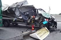 Dopravní nehoda se stala na 139. kilometru ve směru na Prahu.